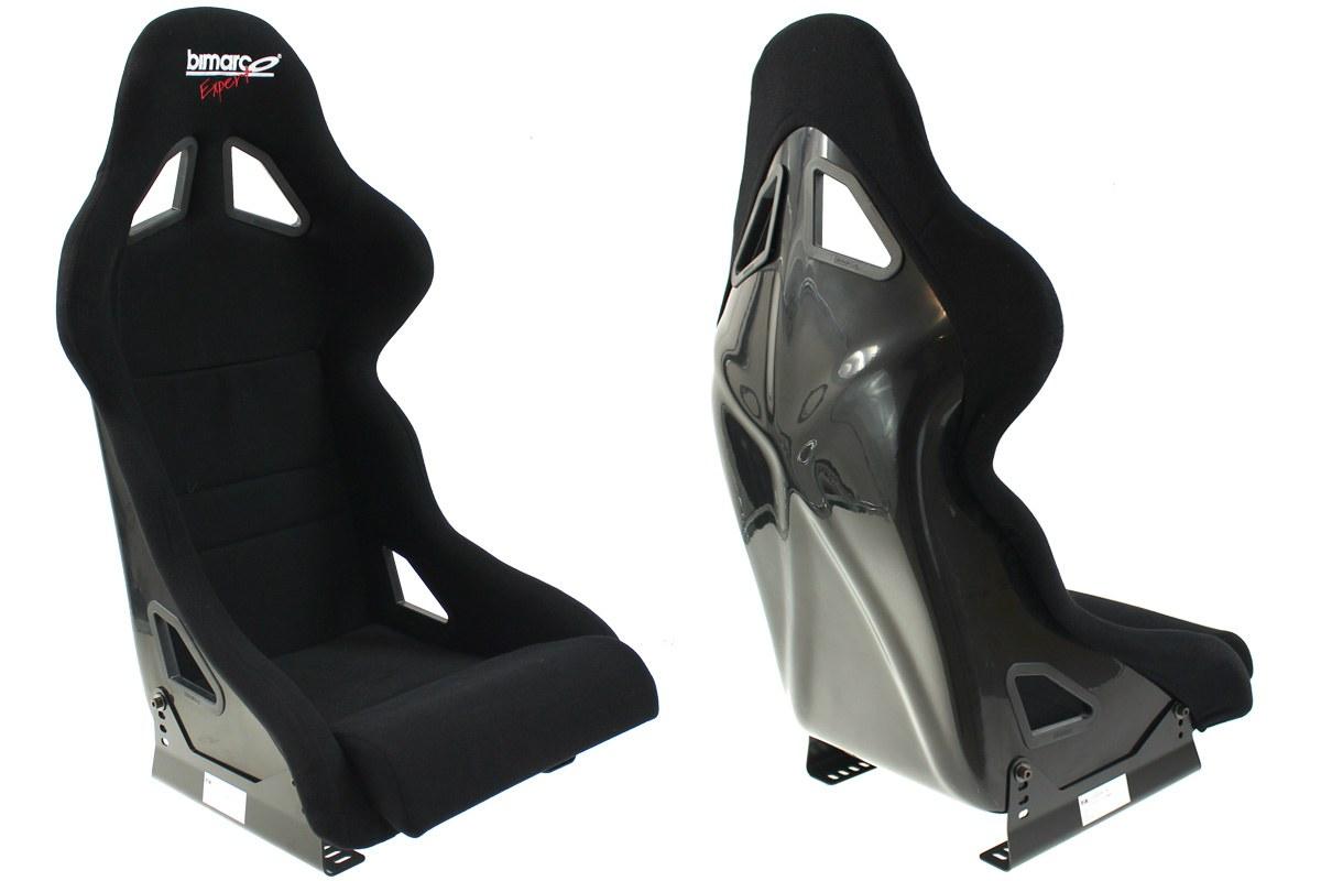 Fotel Sportowy Bimarco Expert II Welur Black FIA - GRUBYGARAGE - Sklep Tuningowy